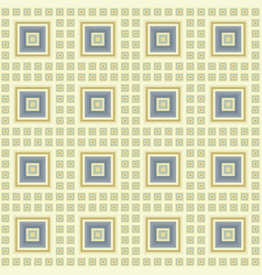 geometric pattern of large and small light squares vector image