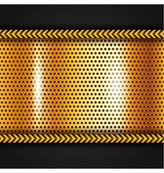 Golden metallic surface vector image vector image