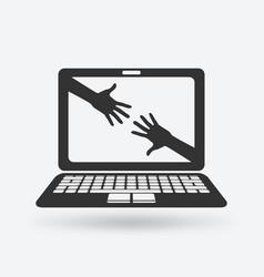 help online concept vector image vector image