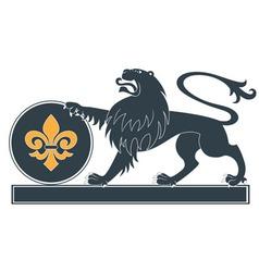 Heraldic lion17 vector