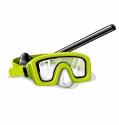 mask for diving sport illustration vector image vector image