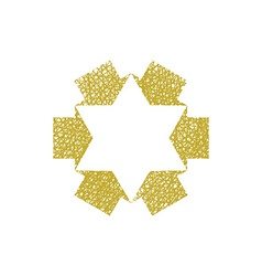 Six point star created with arrows symbol with vector image