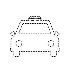 Taxi sign black dashed icon vector
