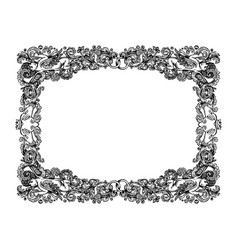 Vintage wedding vignette frame vector