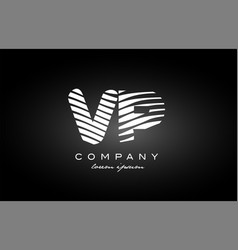 Vp v p letter alphabet logo black white icon vector