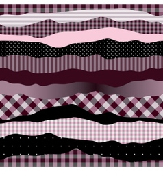 Waves pink collage vector