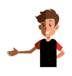 Young boy teen male shadow vector