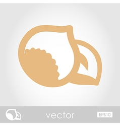 Nut outline icon fruit vector
