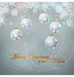 Christmas balls and lace vector