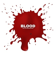 Red blood splatter grunge background vector