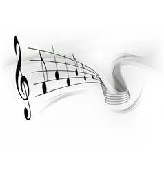 Music note background grey vector