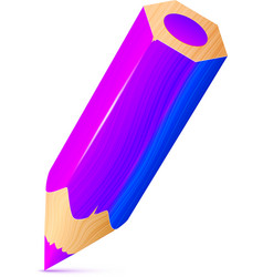 Cute violet wooden little pencil vector