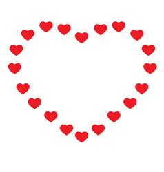 Heart on white background heart sign valentine vector
