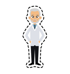 Male doctor icon image vector