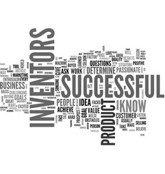 What makes a successful inventor text word cloud vector