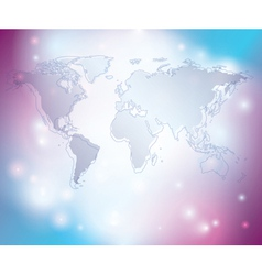 light abstract background with map of the world vector image