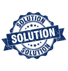Solution stamp sign seal vector