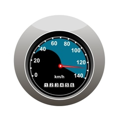Car speedometer showing someone speeding vector