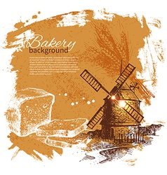 Bakery sketch background vector