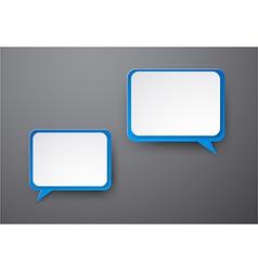 Paper white-blue speech bubbles vector