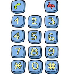 Button phone vector