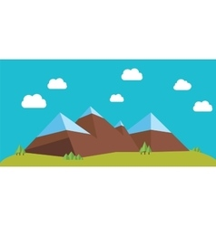 Flat mountains vector