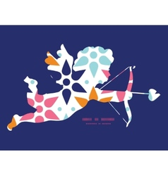 Abstract colorful stars shooting cupid vector