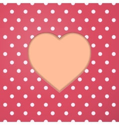 Abstract Paper Heart Valentine vector image vector image