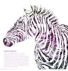 Animal watercolor silhouette zebra vector