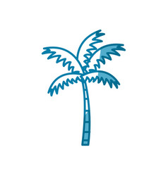 beach palm tree vector image vector image