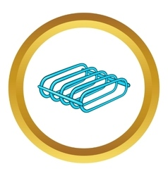 Bicycle rack icon vector