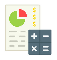 Budget planing flat icon business and finance vector