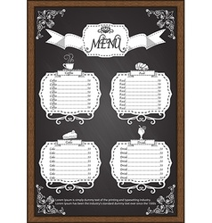 Coffee menu on chalkboard design elements vector image vector image