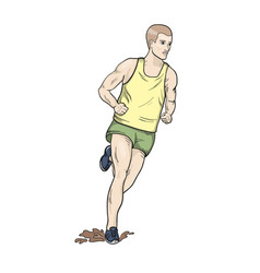 cross country running vector image