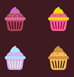 Cupcake collection vector