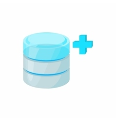 Database growth icon cartoon style vector