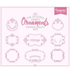 Delicate Ornamental Frame Set vector image