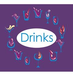 Drink alcohol menu vector