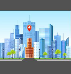 Flat style modern design of urban city landscape vector