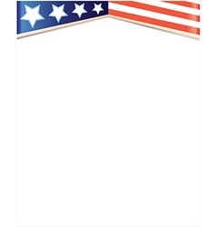 frame background with usa flag vector image