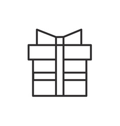 gift box line icon sign vector image