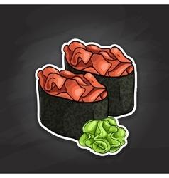 Gunkan Spicy Sake vector image vector image