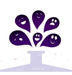 halloween ghost creatures vector image vector image