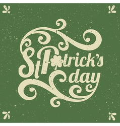 Hand drawn st patricks day greeting card design vector