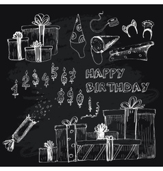Happy birthday collection vector image