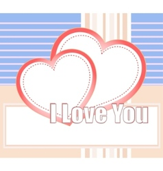 heart card vector image