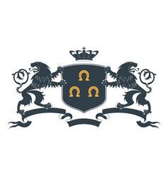 Heraldic lion18 vector image vector image