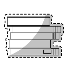 Isolated books design vector