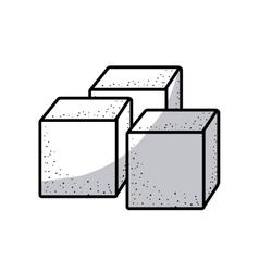 Isolated sugar cube design vector