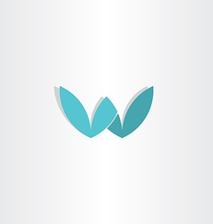 Letter w stylized logo design vector